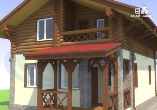 Фото 7: проект дом-шале с балконом