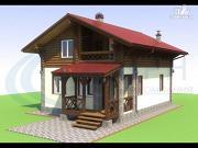 Проект дом-шале с балконом