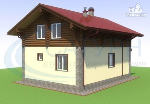 Фото 5: проект дом-шале с балконом