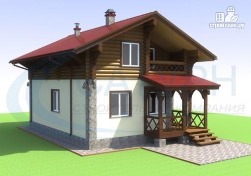 Фото 4: проект дом-шале с балконом