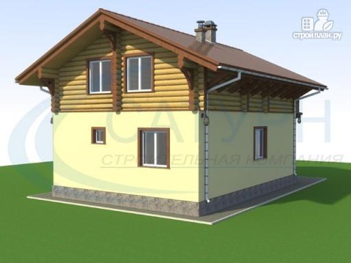 Фото 5: проект деревянный дом с крыльцом и балконом
