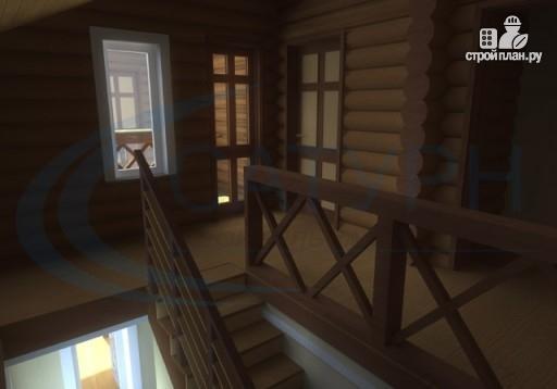Фото 8: проект деревянный дом с крыльцом и балконом
