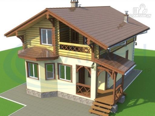 Фото 7: проект деревянный дом с крыльцом и балконом