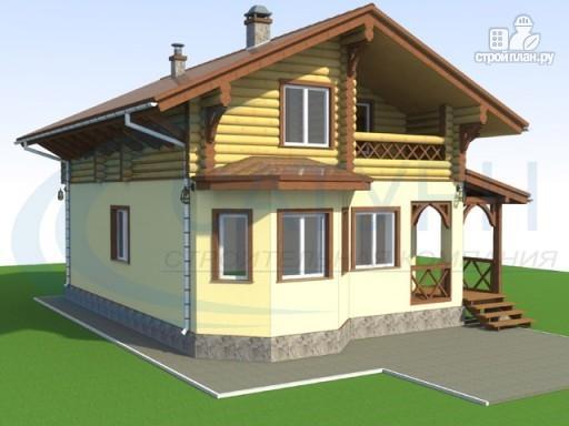 Фото 4: проект деревянный дом с крыльцом и балконом