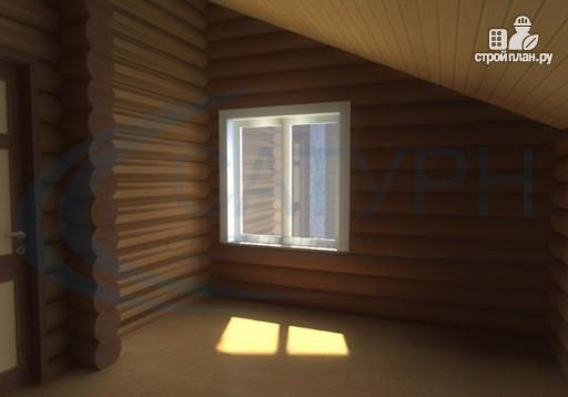 Фото 9: проект деревянный дом с крыльцом и балконом