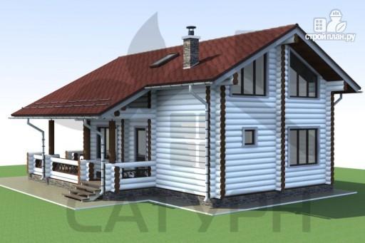 Фото 4: проект дом 8х11 из дерева с террасой