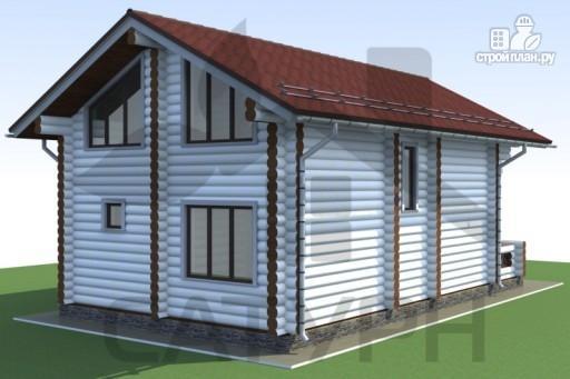 Фото 5: проект дом 8х11 из дерева с террасой