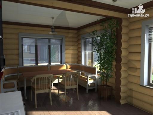 Фото 7: проект дом 8х11 из дерева с террасой