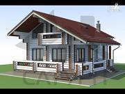 Проект дом 8х11 из дерева с террасой