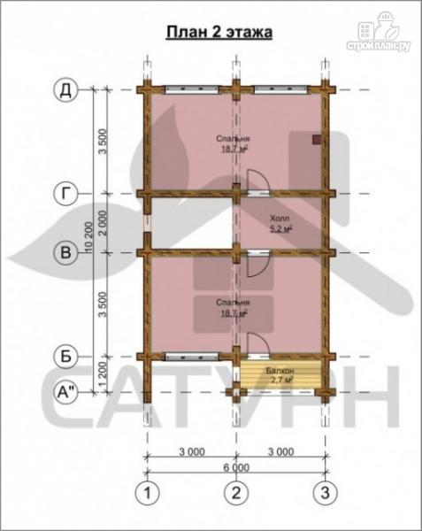 Фото 3: проект дом 8х11 из дерева с террасой