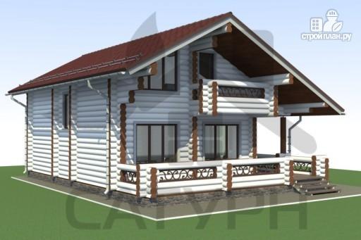 Фото 6: проект дом 8х11 из дерева с террасой