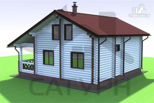 Фото 5: проект дом из дерева с эркером и камином