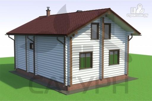 Фото 6: проект дом из дерева с эркером и камином