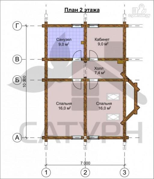 Фото 3: проект дом из дерева с эркером и камином