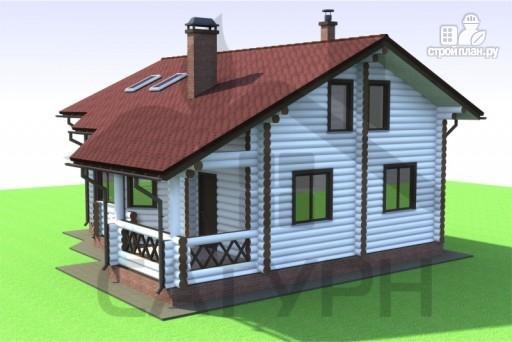 Фото 4: проект дом из дерева с эркером и камином