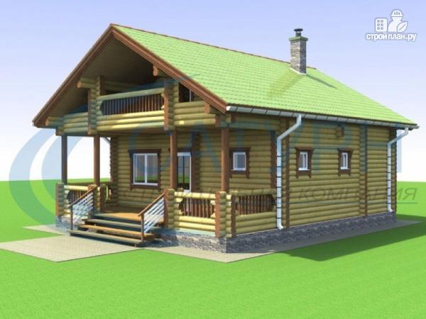 Фото: проект двухэтажная баня с балконом, террасой и вторым светом