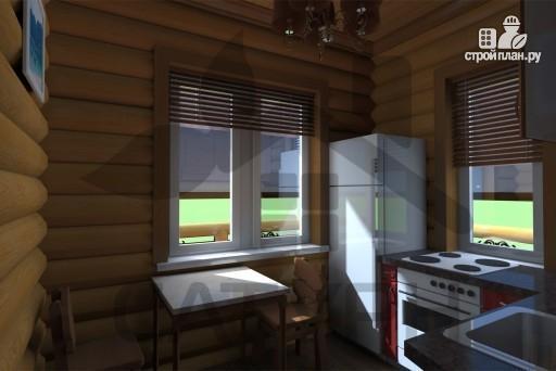 Фото 9: проект дом 8х8 из дерева с угловой террасой