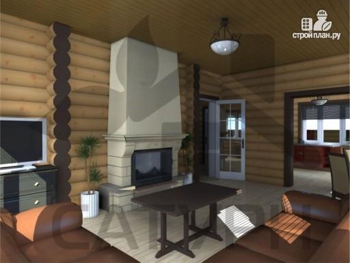 Фото 7: проект деревянный дом с камином
