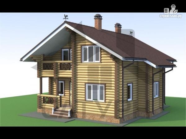 Фото: проект деревянный дом с камином