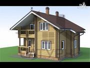 Фото: деревянный дом с камином