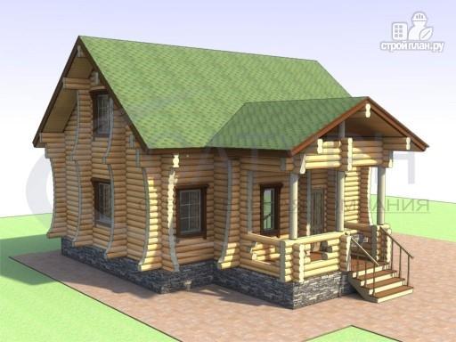 Фото 4: проект деревянный дом с сауной и большой террасой