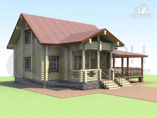 Фото 7: проект деревянный дом с сауной и большой террасой