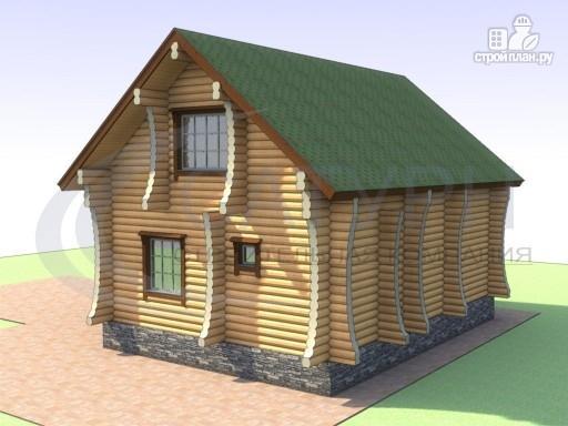 Фото 6: проект деревянный дом с сауной и большой террасой