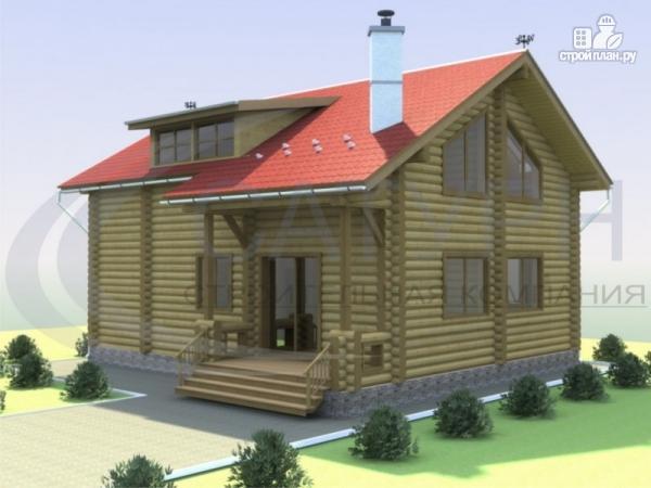Фото: проект деревянный дом со вторым светом в гостиной