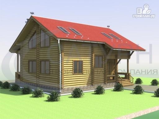 Фото 5: проект деревянный дом со вторым светом в гостиной