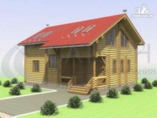 Фото 6: проект деревянный дом со вторым светом в гостиной