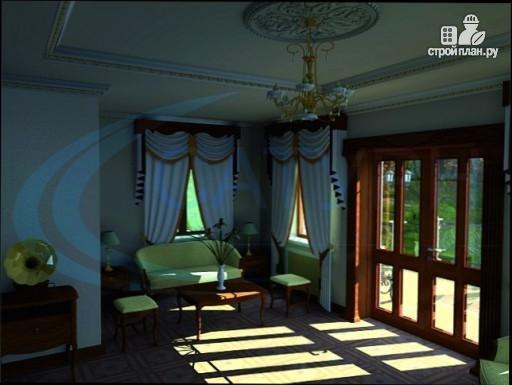 Фото 7: проект деревянный дом со вторым светом в гостиной