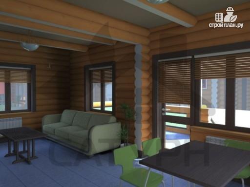 Фото 9: проект дом из дерева с террасой