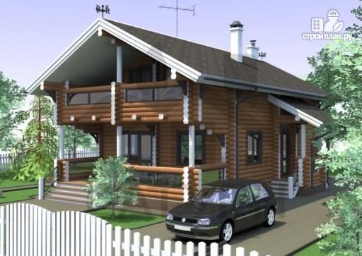 Фото 4: проект дом из дерева с террасой