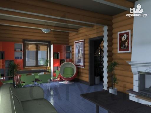Фото 8: проект дом из дерева с террасой