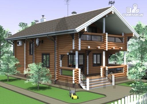 Фото 5: проект дом из дерева с террасой