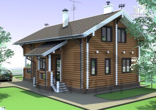 Фото 7: проект дом из дерева с террасой