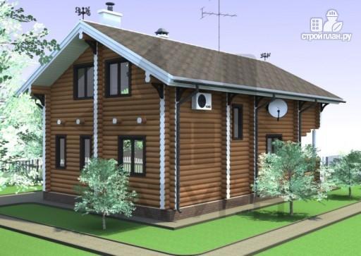 Фото 6: проект дом из дерева с террасой