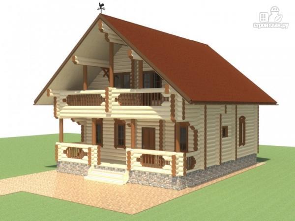Фото: проект деревянный дом для большой семьи