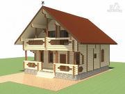 Фото: деревянный дом для большой семьи
