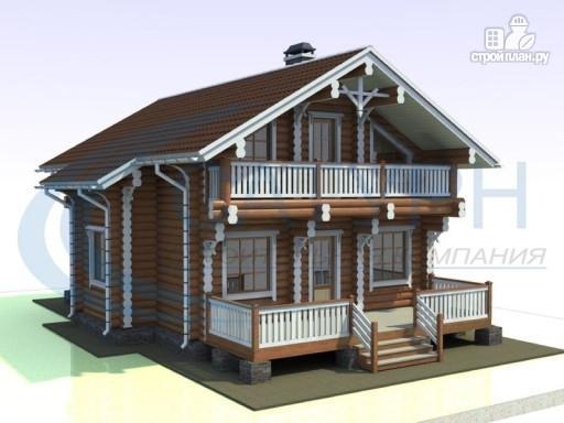 Фото 6: проект деревянный дом с парой балконов и террас