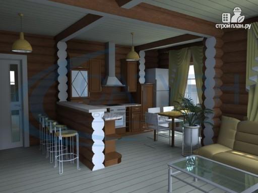 Фото 9: проект деревянный дом с парой балконов и террас