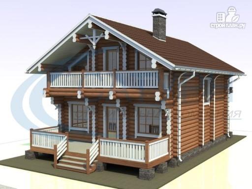 Фото 7: проект деревянный дом с парой балконов и террас