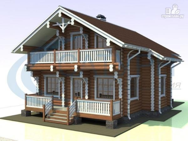 Фото: проект деревянный дом с парой балконов и террас