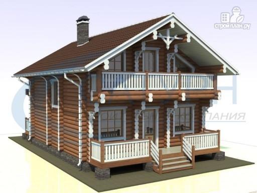 Фото 5: проект деревянный дом с парой балконов и террас