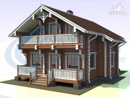 Фото 4: проект деревянный дом с парой балконов и террас