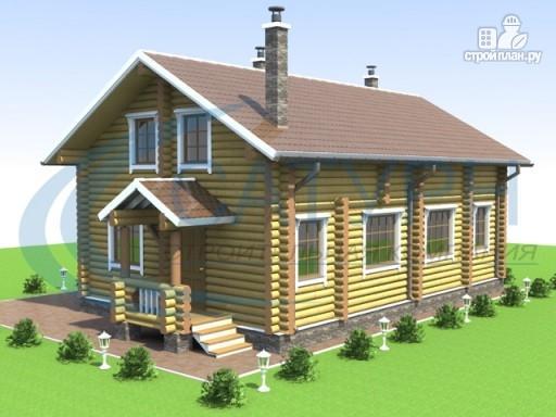 Фото 5: проект деревянный дом с террасой и крыльцом