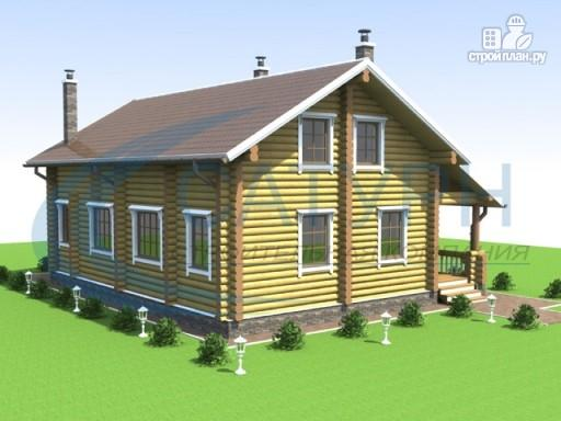 Фото 7: проект деревянный дом с террасой и крыльцом