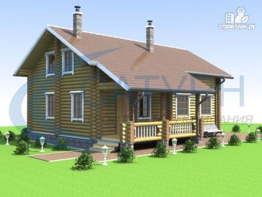 Фото 6: проект деревянный дом с террасой и крыльцом
