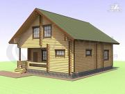 Проект деревянный дом с вторым светом и сауной