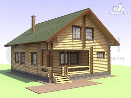 Фото 7: проект деревянный дом с вторым светом и сауной
